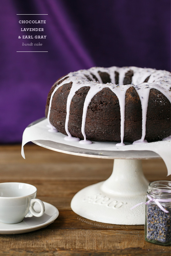 Chocolate Lavender & Earl Gray Bundt Cake