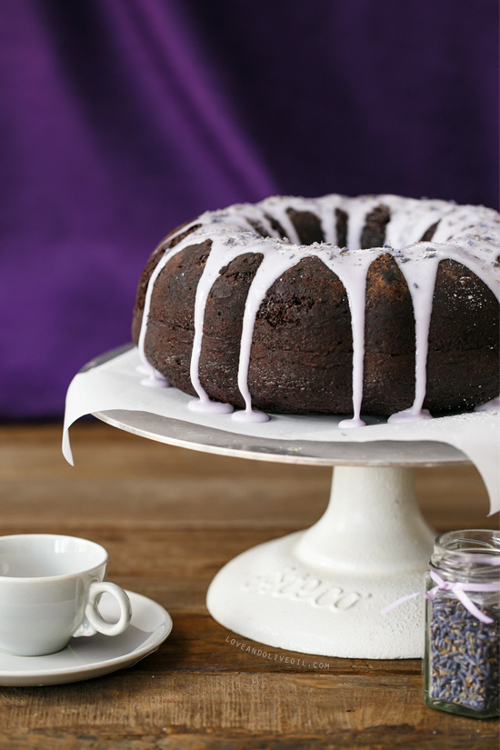Chocolate Lavender & Earl Gray Bundt Cake | Love and Olive Oil