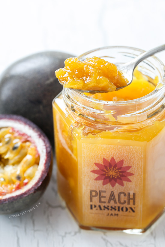 Homemade Peach and Passionfruit Jam