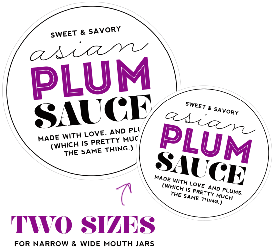 Free Printable Canning Labels - Asian Plum Sauce Recipe