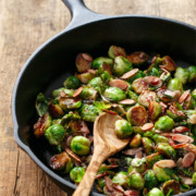 Roasted Brussels Sprouts with Tart Cherry Glaze