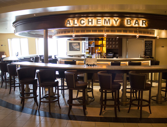 The Alchemy Bar aboard the Carnival Sunshine