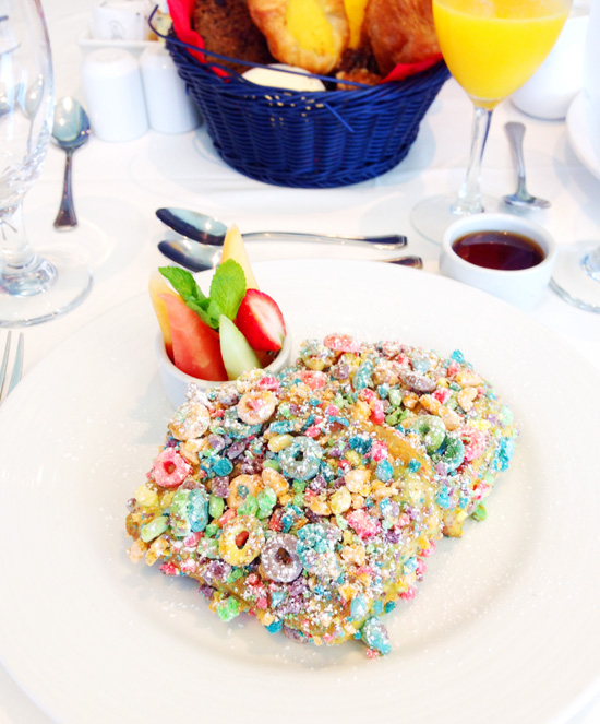 Carnival Foodie Cruise - Fruit Loops French Toast