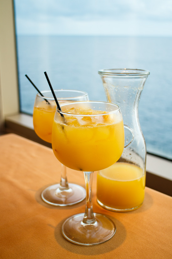 Carnival Foodie Cruise - Orange Sangria at JiJi's Asian Kitchen