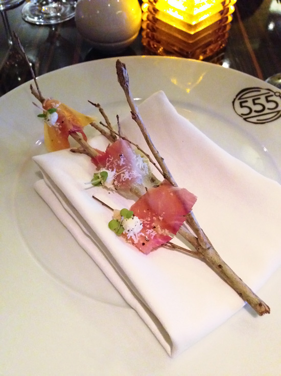 Carnival Foodie Cruise - Prosciutto Appetizer @ Fahrenheit 555 Steakhouse