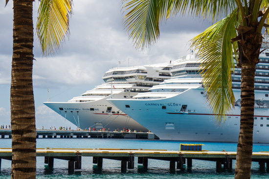 Carnival Foodie Cruise - Carnival Sunshine & Carnival Glory docked in Cozumel