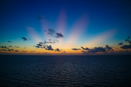 Carnival Foodie Cruise - Sunrise over Belize