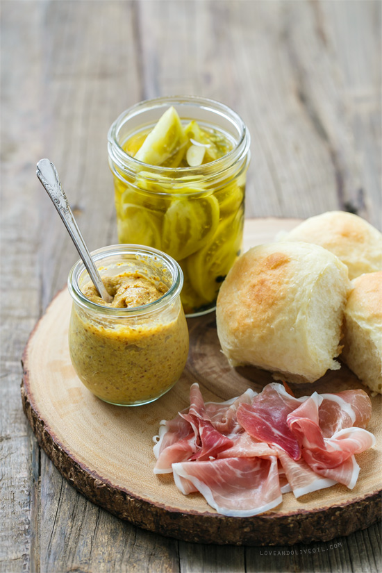 Country Ham and Pickle Sliders