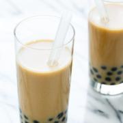 Passion Fruit Bubble Tea with Almond Milk