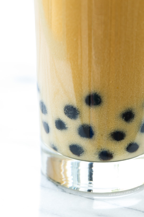 Passion Fruit Bubble Tea with Almond Milk