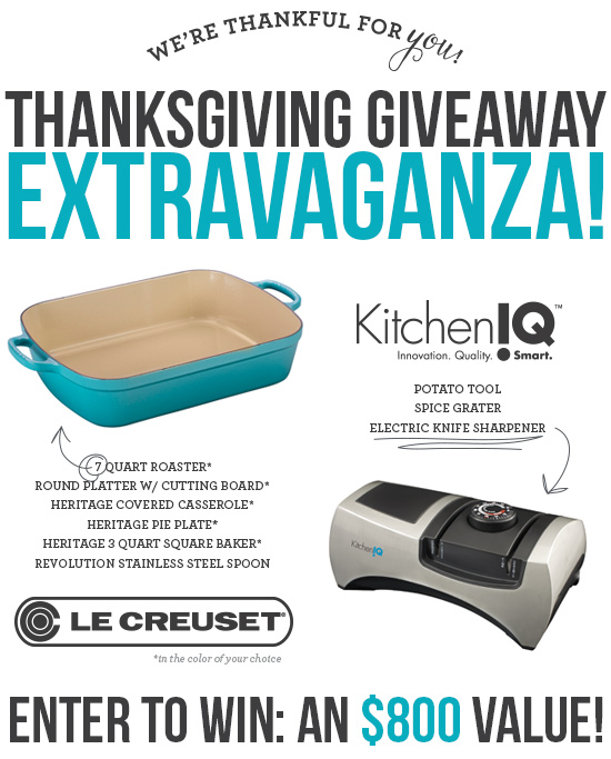 Le Creuset & KitchenIQ $800 Thankgiving Giveaway Extravaganza