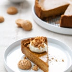 Amaretti Pumpkin Pie Recipe with Cookie Crust