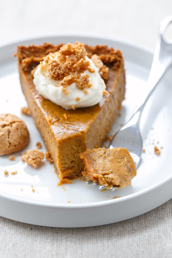 Amaretti Pumpkin Pie Recipe for Thanksgiving
