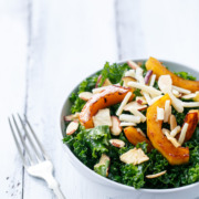Cider-Roasted Squash & Kale Salad with Apple Cider Viniagrette