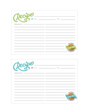 Cookie Swap Printables: Recipe Cards