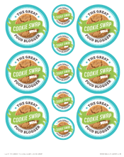 Cookie Swap Printables: Stickers