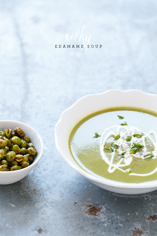 Silky Edamame Soup from the Skinnytaste Cookbook