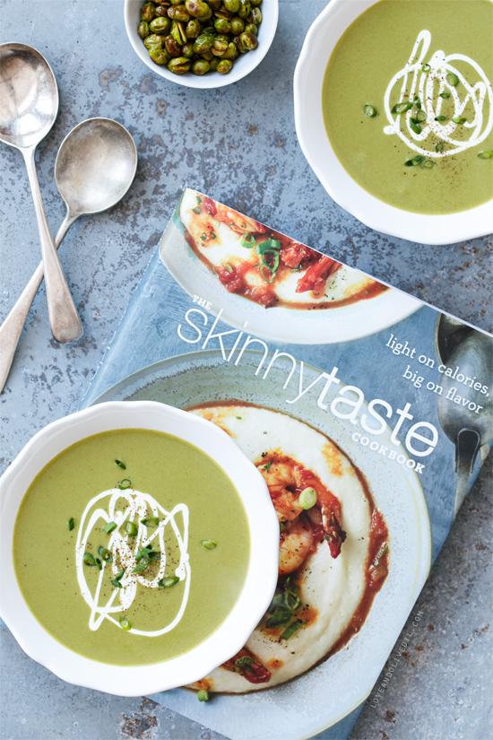 Silky Edamame Soup from the Skinnytaste Cookbook