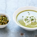 Silky Edamame Soup with Crunchy Roasted Edamame from the Skinnytaste Cookbook