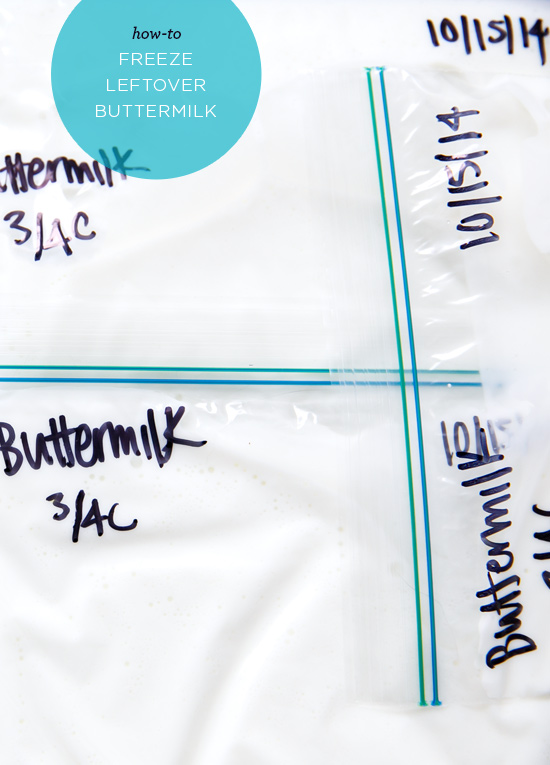 How to Freeze Leftover Buttermilk