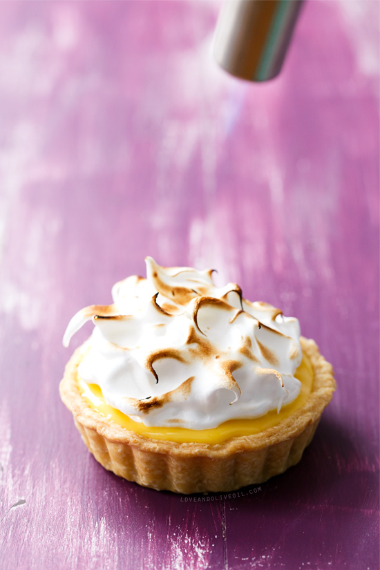 Passion Fruit Curd Tartlet with Torched Meringue Topping