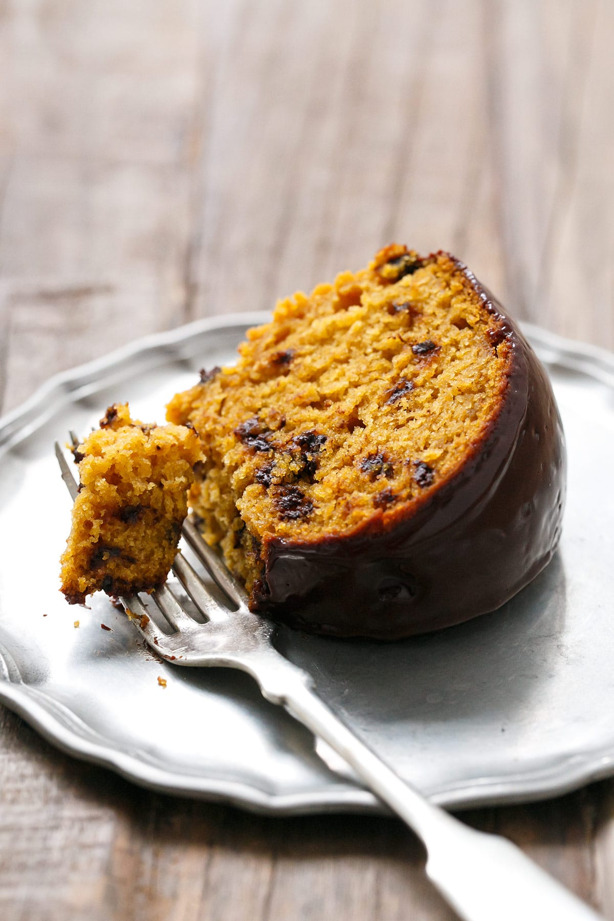 Gluten Free Pumpkin Chocolate Chip Bundt Cake