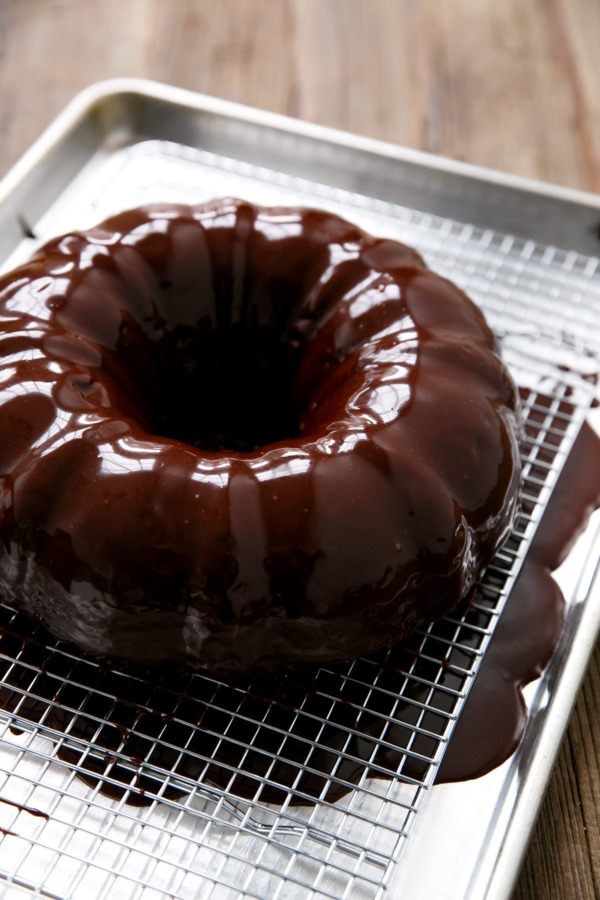 Pumpkin Chocolate Chip Bundt Cake with Chocolate Ganache Glaze