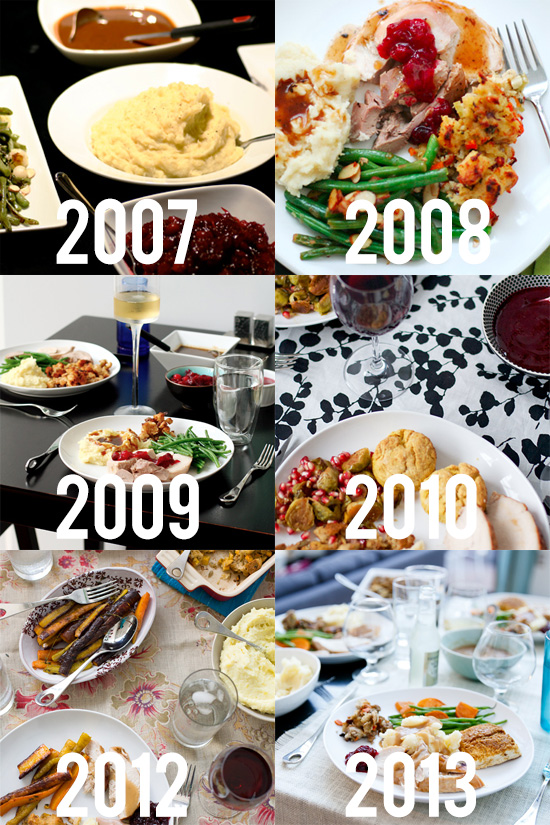 Thanksgiving Dinner over 6 Years
