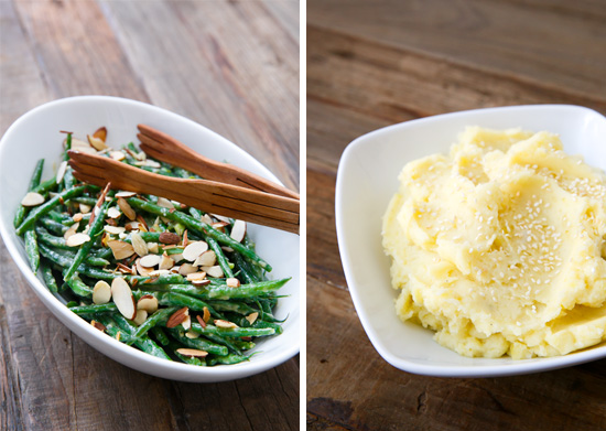 Asian-themed Thanksgiving: Miso Green Beans and Sesame Mashed Potatoes
