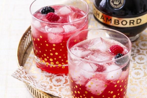 Black Raspberry Shrub Cocktail