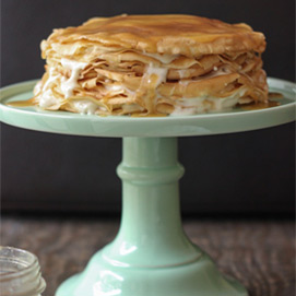 Mille Crepe Cake with Butterscotch and Cinnamon from Tina of Mademoiselle Gourmande