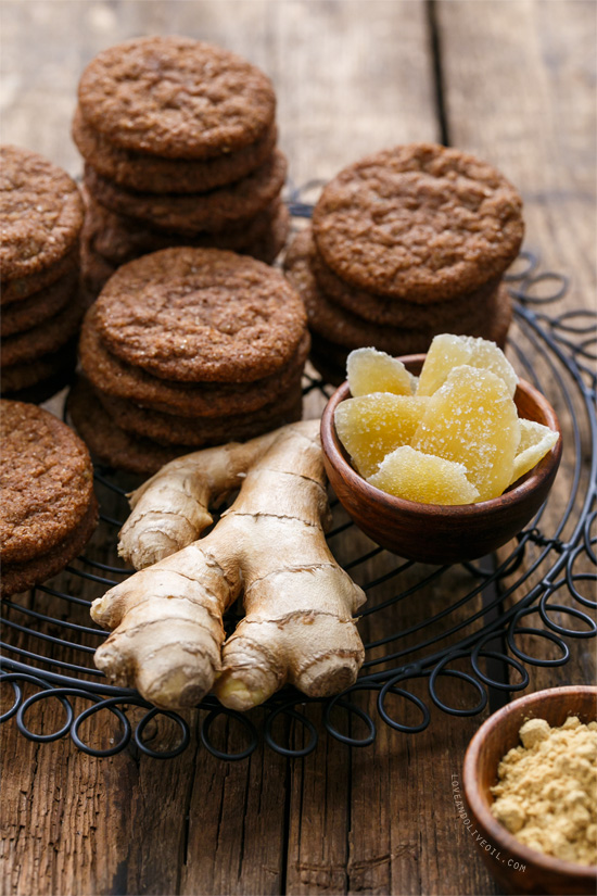 Triple Ginger Snap Cookies | Love and Olive Oil