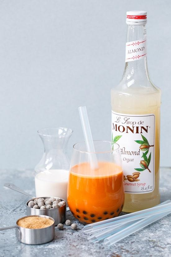 Thai Almond Milk Bubble Tea