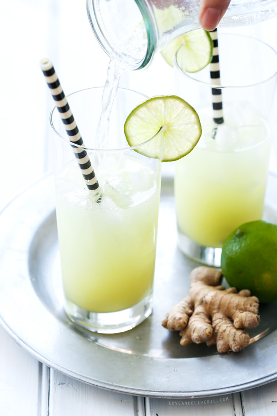 Fresh Ginger & Lime Tonic Soda
