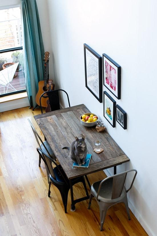 Loft Dining Room Art Wall