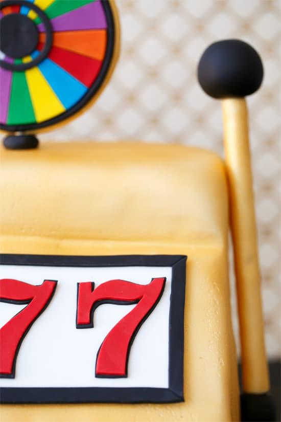 Vegas Wheel-of-Fortune Slot Machine Cake