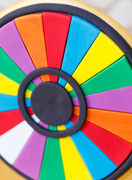 Wheel of Fortune Slot Machine made from Fondant