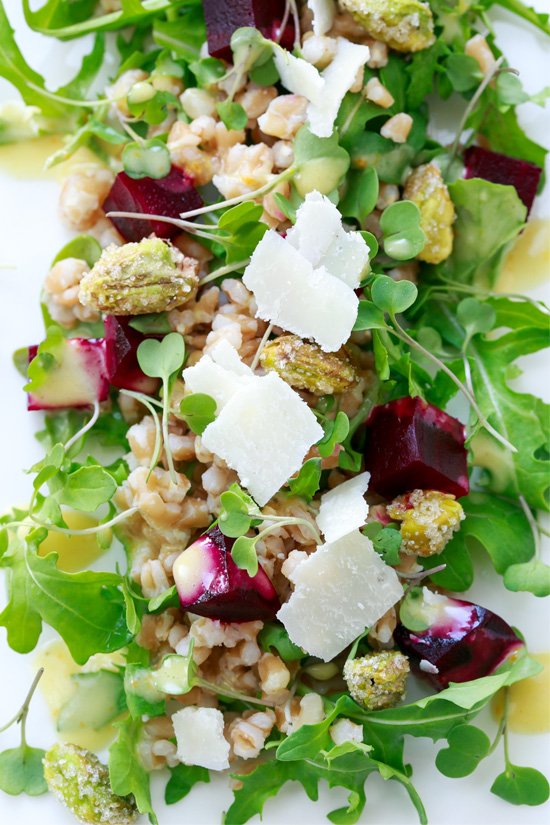 farro salad with farro salad with beets farro salad with roasted beets ...