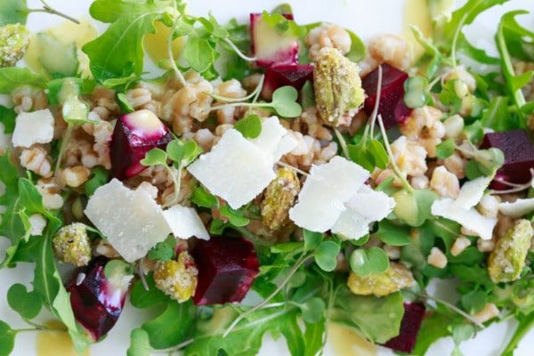 Roasted Beet and Farro Salad with Citrus Vinaigrette