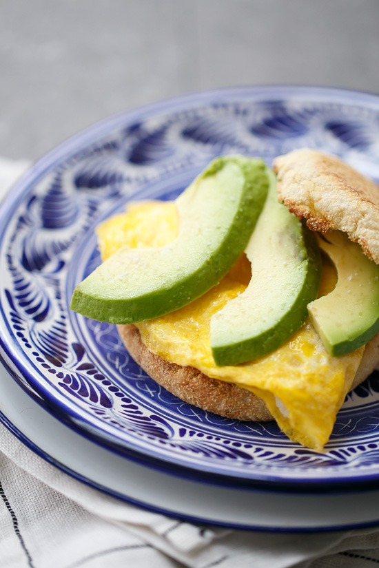Goat Cheese & Avocado Egg Breakfast Sandwiches