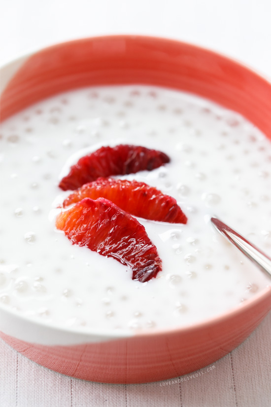 fresh coconut tapioca pudding