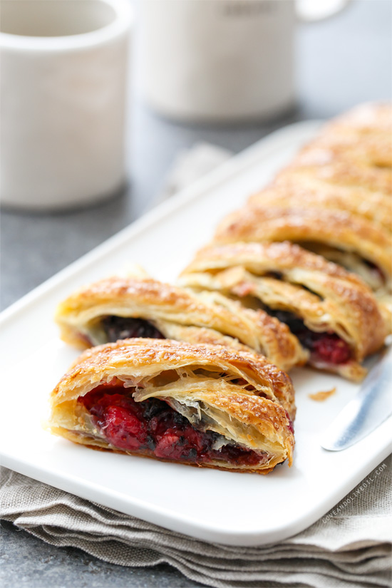 Tart Cherry & Chocolate Danish Twist Breakfast Pastry