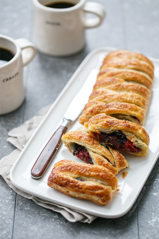 Tart Cherry Danish Twist Breakfast Pastry