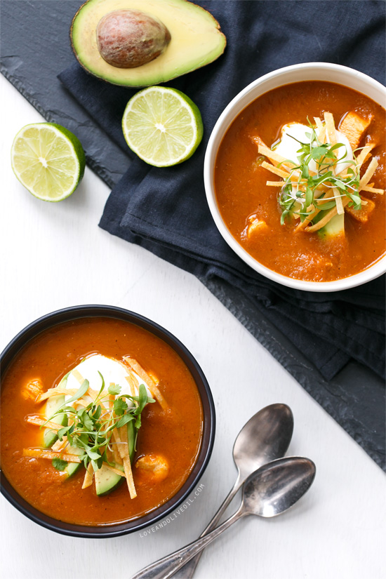 Recipe for One-Pot Chicken Tortilla Soup
