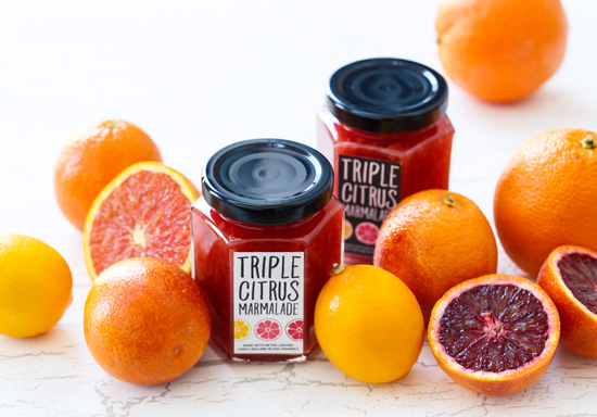 Mixed Winter Citrus Marmalade made with Meyer Lemons, Cara Cara and Blood Oranges