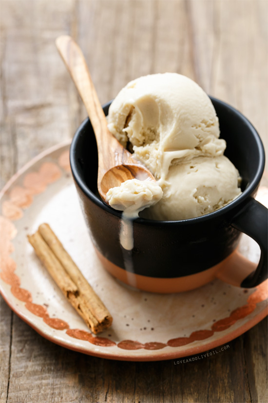 Homemade Horchata Ice Cream