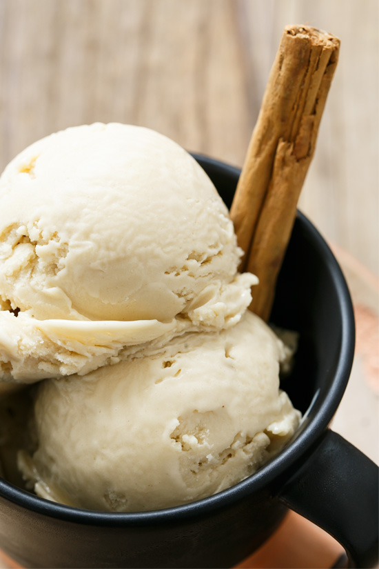 Horchata Ice Cream made with Rice, Almonds, and Cinnamon