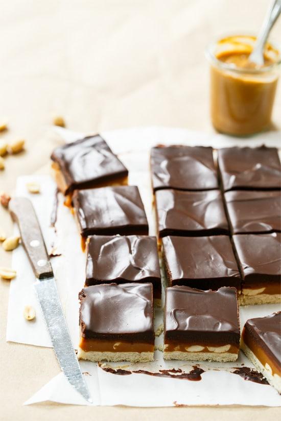 Peanut Butter Millionaire Shortbread Bars
