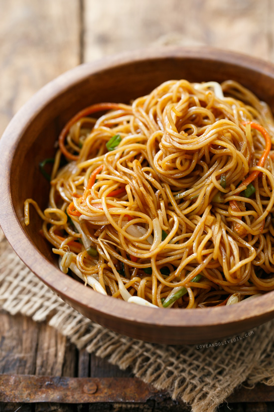 Soy Sauce Chow Mein Noodles