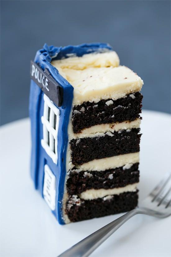 Doctor Who TARDIS Birthday Cake